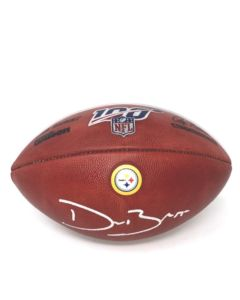 Pittsburgh Steelers #55 Devin Bush Autographed NFL Official 'The Duke' 100 Seasons Football