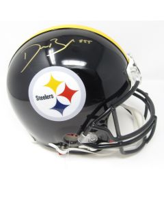 Pittsburgh Steelers #55 Devin Bush Autographed Riddell ProLine Authentic Full Size Helmet