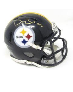 Pittsburgh Steelers #55 Devin Bush Autographed Riddell Mini Speed Helmet