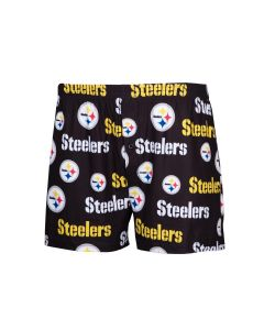 Pittsburgh Steelers Men's Exclusive Fairway Black Boxer