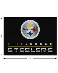 "Pittsburgh Steelers Chrome 3'10""x5'4"" Rug"