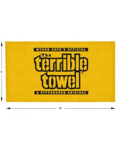 Pittsburgh Steelers Custom Terrible Towel Beach Towel