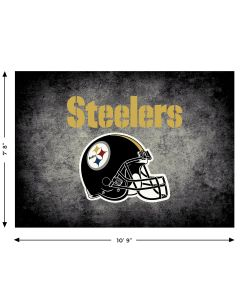 "Pittsburgh Steelers Distressed 7'8"" x 10'9"" Rug"