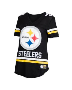 Pittsburgh Steelers Women's Short Sleeve Grid Iron Jersey T-Shirt