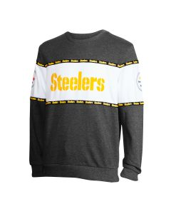 Pittsburgh Steelers Men's Logotype Pullover Fleece Crew