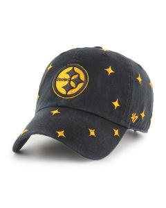 Pittsburgh Steelers '47 Women's Black Confetti CLEAN UP Hat