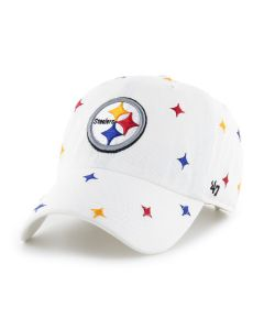 Pittsburgh Steelers '47 Women's White Confetti CLEAN UP Hat