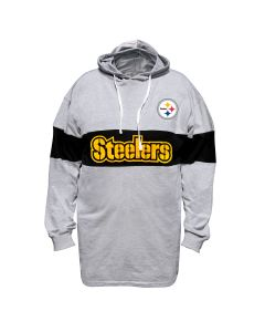 Pittsburgh Steelers Men's Big & Tall Colorblock Long Sleeve Hooded T-Shirt