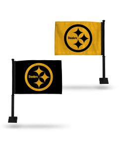 Pittsburgh Steelers 2 Sided Color Rush Car Flag
