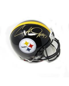 Pittsburgh Steelers #97 Cam Heyward Autographed Riddell ProLine Authentic Full Size Helmet