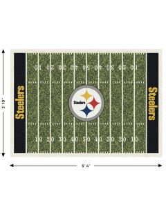 "Pittsburgh Steelers Team Field 3'10"" x 5'4"" Rug"