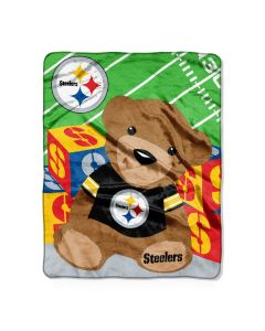 Pittsburgh Steelers Baby Bear Silk Touch 40x50 Blanket