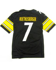 Pittsburgh Steelers #7 Ben Roethlisberger Autographed Nike Limited Home Black Jersey