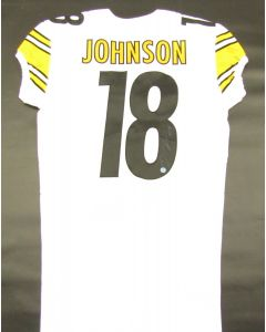 Pittsburgh Steelers 2019 Away Team Issued Jersey Signed by #18 Diontae Johnson