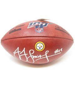 Pittsburgh Steelers #19 JuJu Smith-Schuster Autographed NFL Official 'The Duke' 100 Seasons Football