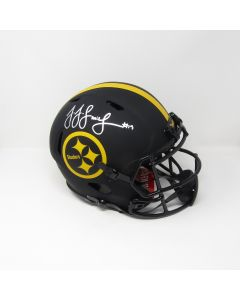 #19 JuJu Smith-Schuster Autographed Riddell Speed Authentic Eclipse Full Size Helmet