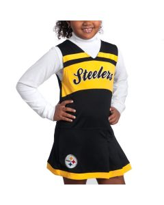Pittsburgh Steelers Juvenile Girls Black Cheer Jumper