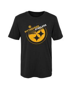 Pittsburgh Steelers Boys' Flux Mix Short Sleeve T-Shirt