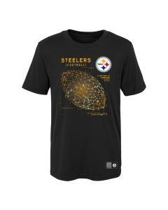 Pittsburgh Steelers Boys' Temco Ball Short Sleeve T-Shirt