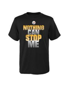 Pittsburgh Steelers Boys' Nothing Can Stop Me Short Sleeve T-Shirt