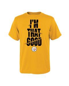 Pittsburgh Steelers Boys' I'm That Good Short Sleeve T-Shirt