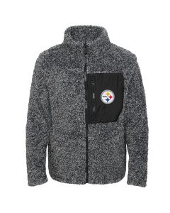 Pittsburgh Steelers Girl's Fan Gear Sherpa Jacket