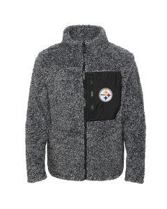 Pittsburgh Steelers Girl's Fan Gear Sherpa Jacket