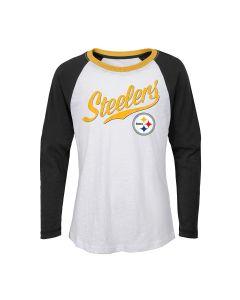 Pittsburgh Steelers Girls' Tradition Raglan Long Sleeve T-Shirt