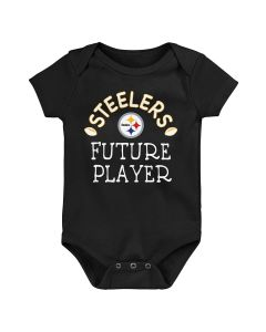 Pittsburgh Steelers Newborn Boys' Future Star Short Sleeve Creeper