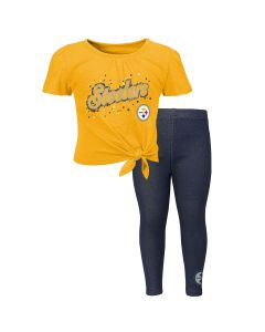 Pittsburgh Steelers Toddler Girls' In The Game Short Sleeve Shirt & Jegging Set