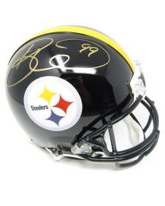 Pittsburgh Steelers #99 Brett Keisel Autographed Riddell ProLine Authentic Full Size Helmet