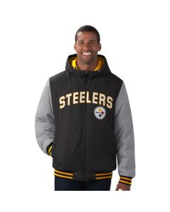 Pittsburgh Steelers Men's Cold Front Heavyweight Hooded Jacket