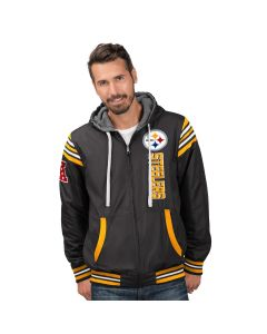 Pittsburgh Steelers Men's Zone Blitz Reversible Hoodie