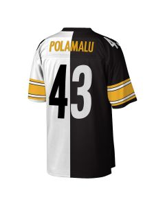 Troy Polamalu #43 Mitchell & Ness Men's Replica Limited Split Jersey
