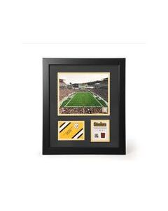 Pittsburgh Steelers Heinz Field Day Framed Photo with a piece of Game-Used Football