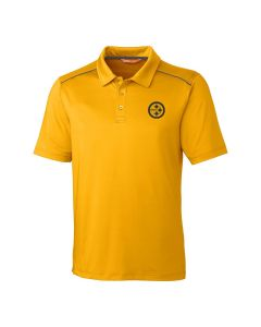 Pittsburgh Steelers Men's Cutter and Buck Chance Gold Polo