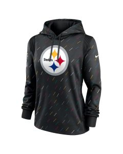 Pittsburgh Steelers Women's Nike 2021 Crucial Catch Therma Hoodie