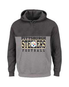 Pittsburgh Steelers Men's Big & Tall Colorblock Yoke Pullover Fleece Hoodie
