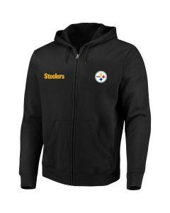 Pittsburgh Steelers Men's Big & Tall Full Zip Fleece Hoodie