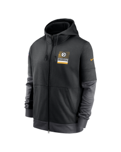 Pittsburgh Steelers Men's Nike Lockup Therma Full Zip Sideline Hoodie