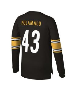 #43 Troy Polamalu Mitchell & Ness Long Sleeve Player Top