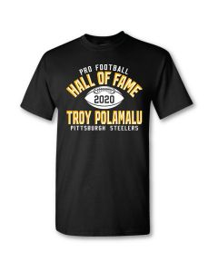 Pittsburgh Steelers Hall of Fame Troy Polamalu Short Sleeve T-Shirt