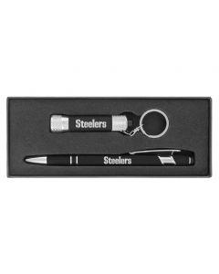 Pittsburgh Steelers Ellipse Pen & Chroma Pocket Light Set