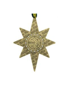 Pittsburgh Steelers Wendell August Forge 2021 Bronze Collector's Ornament w/ Swarovski Crystals