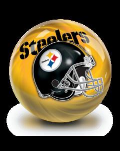 Pittsburgh Steelers Helmet Swirl Undrilled Bowling Ball