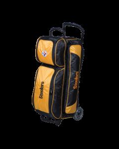 Pittsburgh Steelers Premium Triple Roller Bowling Bag