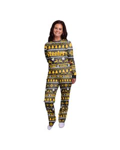 Pittsburgh Steelers Women's Wordmark Crewneck Pajama Set