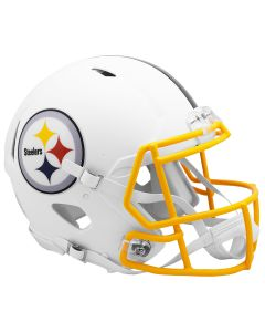 Pittsburgh Steelers Authentic Flat White Speed Helmet