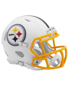 Pittsburgh Steelers Flat White Speed Mini Helmet