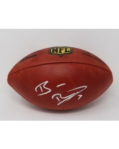 Pittsburgh Steelers #7 Ben Roethlisberger Autographed Wilson NFL 'The Duke' Authentic Game Football